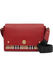 Burberry Note Crossbody Bag - Vermelho