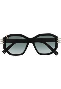 Givenchy Eyewear Óculos De Sol Hexagonal - Preto