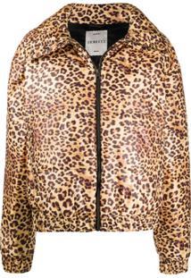 Fiorucci Angel Leopard Print Puffer Jacket - Amarelo