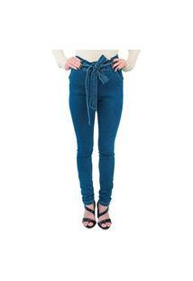 Calça Clochard Com Laço Gam Style Gam Jeans