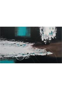 Quadro Artesanal Abstrato Azul 70X120 Cm