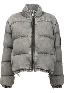 Alexander Wang Bleached Puffer Jacket - Cinza