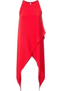 Gareth Pugh Blusa Assimétrica - Vermelho