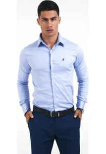 Camisa Social Masculina Super Slim - Masculino-Violeta
