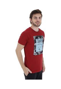 Camiseta Hd Retrô Hibiscus - Masculina - Vermelho