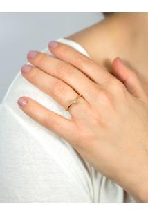 Anel Solitário De Ouro 18K Diamante 10 Pontos To Love