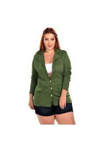 Blazer Sig Plus Size Verde