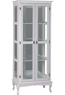 Cristaleira 2P + Vidro Com Prateleiras Maciças Com Espelho - Tommy Design