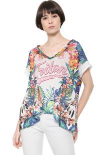Camiseta Triton Recortes Off-White