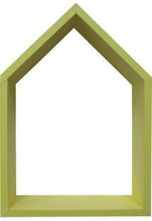 Nicho Home Sweet Home- Amarelo- 33X28Cm- Kaposkapos