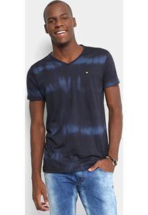 Camiseta Gangster Gola V Tie Dye Masculina - Masculino-Marinho
