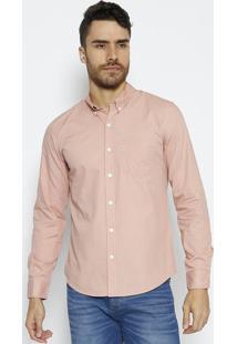 Camisa Lisa Com Bolso- Rosãªlevis