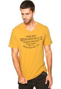 Camiseta Triton Gola V Amarelo