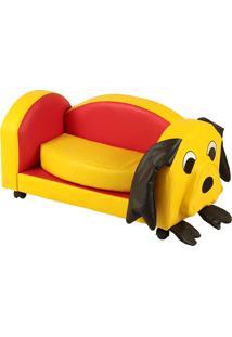 Puff Poltrona Dog Infantil - Stay Puff - Amarelo / Vermelho
