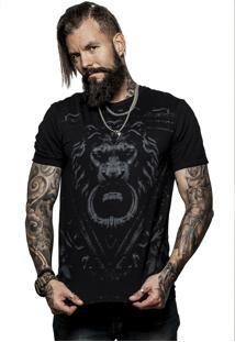 Camiseta Caráter Leão Preta