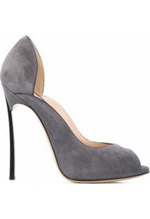 Casadei Sapato Peep-Toe Blade - Cinza