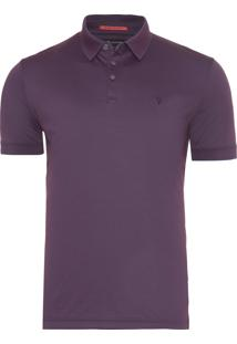 Polo Masculina Interloque Oxford Pima - Roxo