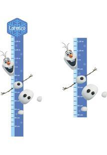 Adesivo Régua De Crescimento Olaf