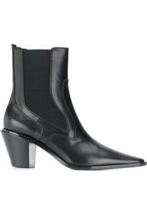 Casadei Ankle Boot Com Salto 70Mm - Preto