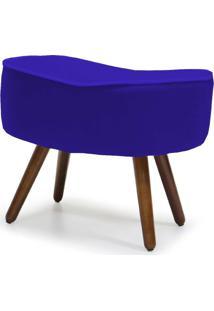 Puff Banqueta Decorativa Para Sala De Estar Kora D02 Veludo Azul Cobalto B-170 - Lyam Decor - Azul - Dafiti
