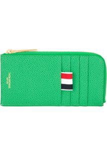 Thom Browne Carteira Com Logo E Zíper - Verde