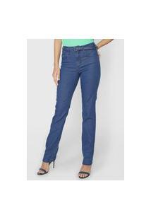 Calça Jeans Forum Reta Pespontos Azul