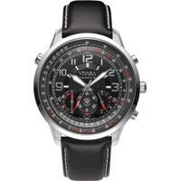 78c3f784e40 Relógio Vivara Masculino Couro Preto - Ds13464R0B-1