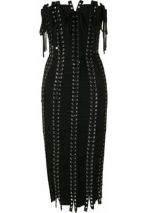 Dolce & Gabbana Vestido Midi Tubinho Justo - Preto