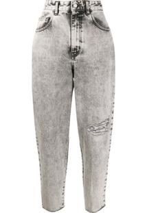 Just Cavalli Calça Jeans Boyfriend Cropped - Cinza