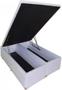 Cama Box Ba㺠Bipartido Casal Premium 1,38 X 1,88 X 0,40 Tecido Sintã©Tico Branco - Branco - Dafiti