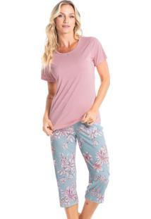 Pijama Pescador Estampado Miriam - Azul/P