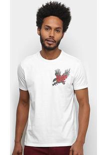 Camiseta Ellus Estampa Costas Masculina - Masculino-Off White