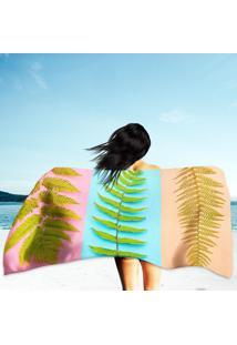 Toalha De Praia / Banho Fern Tropical Leaf