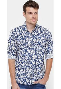 Camisa Forum Full Print Floral Masculina - Masculino