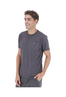 Camiseta Hd Holog Pocket - Masculina - Cinza Escuro