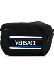 Versace Pochete Com Logo Contrastante - Preto