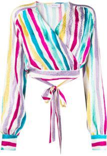 Art Dealer Blusa Com Estampa De Listras - Branco