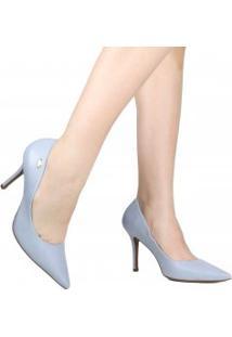 Sapato Scarpin De Noivas Luz Da Lua Em Couro