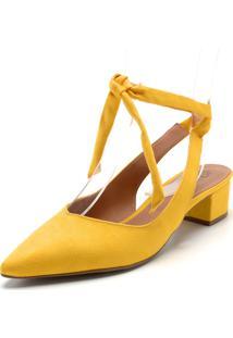 Scarpin Bebecê Nó Amarelo
