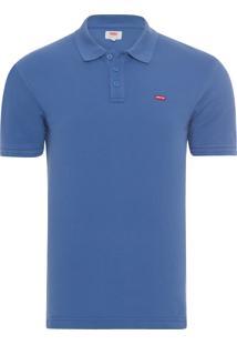 Camisa Masculina Polo - Azul