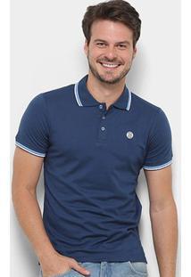 Camisa Polo Gajang Cannes Lions Masculina - Masculino-Azul