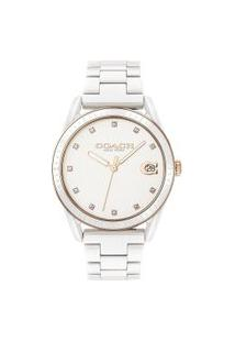 Relógio Coach Feminino Cerâmica Branca - 14503263