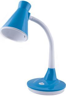 Luminária De Mesa Escritório Bivolt Tlm-03 Taschibra Azul Azul