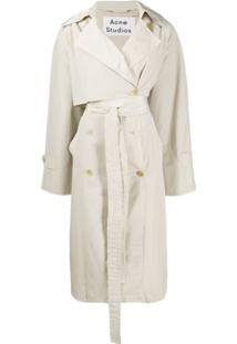 Acne Studios Trench Coat Com Cinto - Neutro