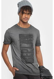 Camiseta Replay Rectangle Masculina - Masculino