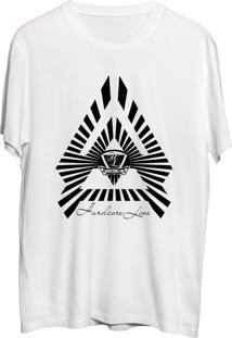 Camiseta Hardcore Line 2 Triangulos Branca