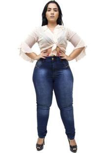 Calça Jeans Latitude Plus Size Verilaine Feminina - Feminino