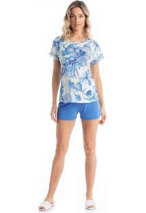 Pijama Clarice Curto - O369 Lilas/P