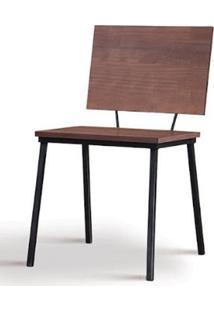 Cadeira Preciosa Madeira Castanho Base Preta 77Cm - 62081 - Sun House