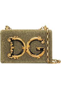Dolce & Gabbana Bolsa Tiracolo Dg Girls Com Logo - Metálico